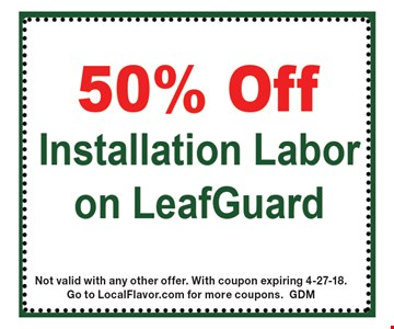 Not valid with any other offer. With coupon expiring 4-27-18. Go to LocalFlavor.com for more coupons. GDM