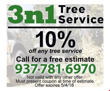 10% off any tree service