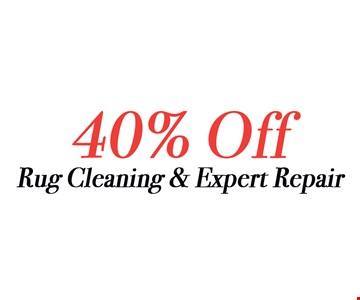 40% Off Rug Cleaning & Expert Repair