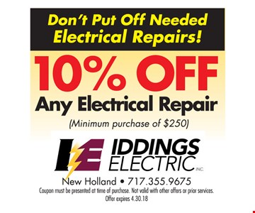10% Off Any Electrical Repair