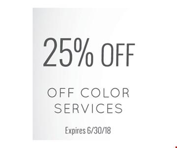25% off color services