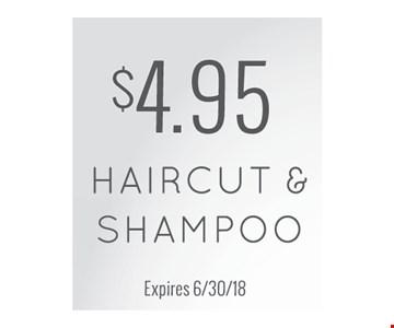 $4.95 haircut and shampoo