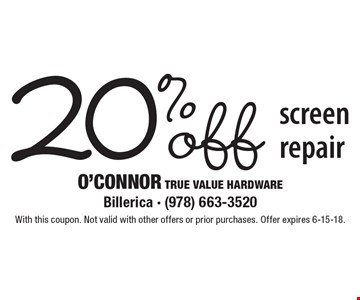 20% off screen repair. With this coupon. Not valid with other offers or prior purchases. Offer expires 6-15-18.