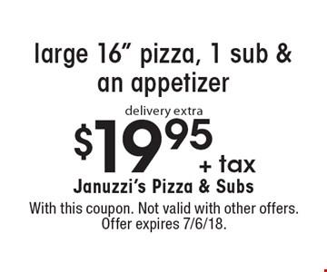 $19.95 + tax large 16