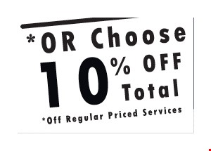 10% off total