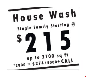 House wash for $215
