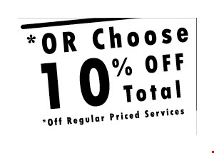 10% OFF Total regular priced services