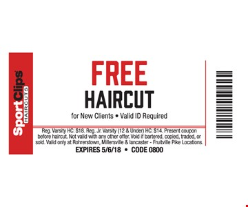 Free Haircut For New Clients