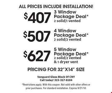 Pricing for 32