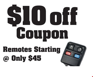 $10 off Coupon Remotes Starting @ Only $45.