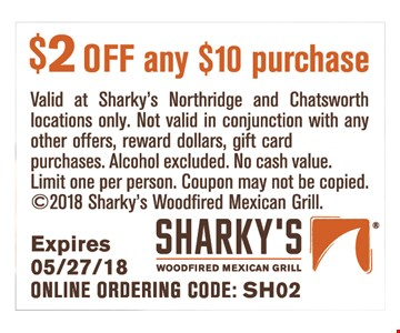 $2 off any purchase of $10