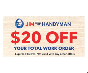 $20 Off Your Total Work Order