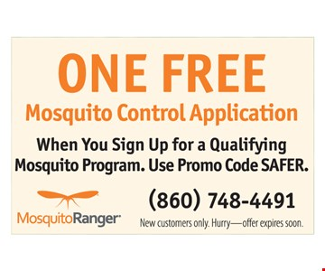 Free mosquito control application.