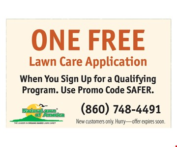 Free lawn care application.