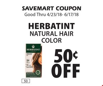 50¢ off Herbatint Natural Hair Color. SAVEMART COUPON Good Thru 4/23/18- 6/17/18