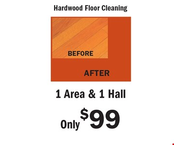 Only $99 1 Area & 1 Hall. An area is defined as a room up to 300 square feet. Combination areas and areas over 300 square feet are considered as separate areas. Baths, staircases, landings, halls, walk-in closets and area rugs are priced separately. Valid for residential areas only. Prices may vary for specialty fabrics, loose back cushions, wool and oriental carpet and special services. Air duct pricing valid on single furnace homes only. Extra charge may apply for homes with multiple heating/cooling systems or homes with furnace or vents that are not easily accessible. Not responsible for existing broken tiles and or loose grout. Energy savings may vary depending on the size of your home and the condition of your heating/cooling system. Offer/service not available in all areas. Minimum order may apply. Other restrictions may apply. Call for details. Not valid with any other coupon or offer. Void where prohibited. Services supplied by Sears associates or franchisees. Sears cards are issued by Citibank (South Dakota) N.A. A temporary fuel charge may be added. Offers expire 6-30-18.