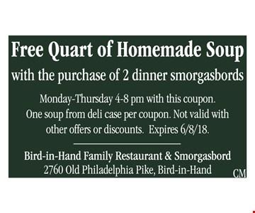 Free quart of homemade soup