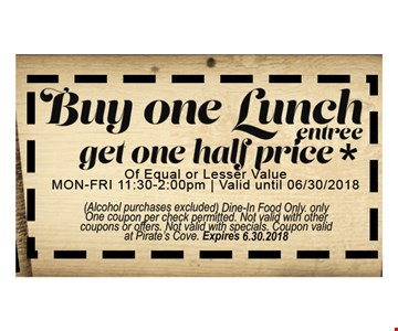 Buy One Lunch Get One half price