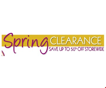 Spring Clearance save up to 50% storewide