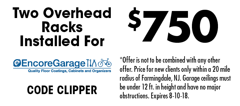 Contemporary Closets: Two Overhead Racks Installed For $750. CODE CLIPPER.  *Offer Is