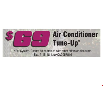 $69 Air Conditioner Tune-Up