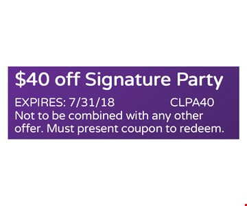$40 off signature party
