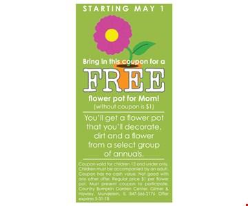Free flower pot for mom!