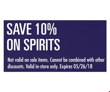 Save 10% on Spirits