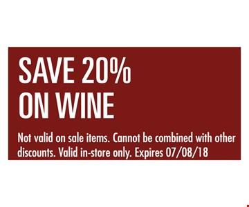 Save 20% on wine