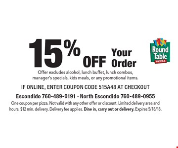LocalFlavorcom Round Table Pizza Escondido For Worth Of - Round table pizza lunch buffet coupon