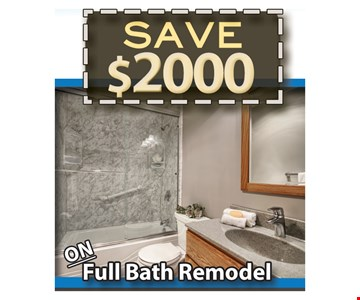 Save $2,000 On Full bath Remodel