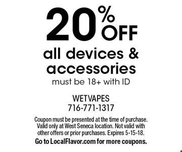 20% off all devices and accessories