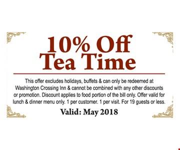 10% Off Tea Time