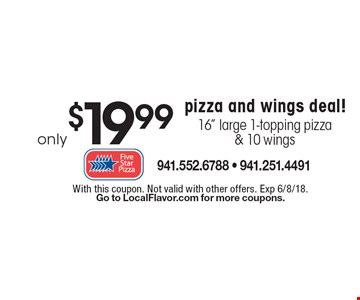 Only $19.99 pizza and wings deal! 16