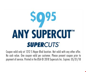 $9.95 Any Supercut