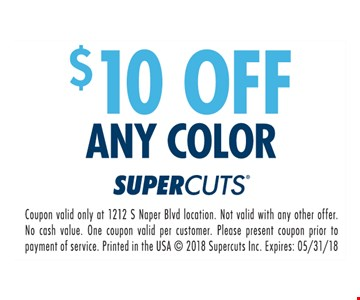 $10 Off Any Color
