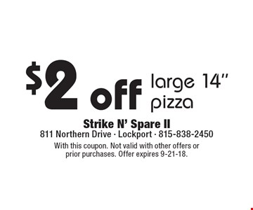 $2 off large 14