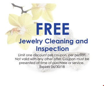 Free Jewelry Cleaning And Inspection