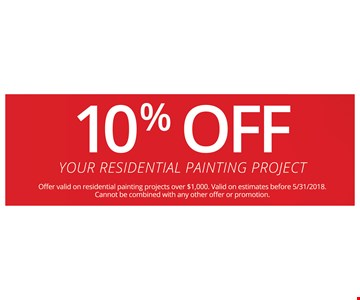 10% Off your residental painting project