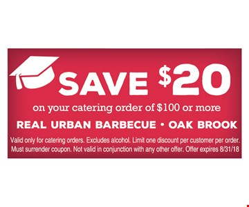 Save $20 on your catering order