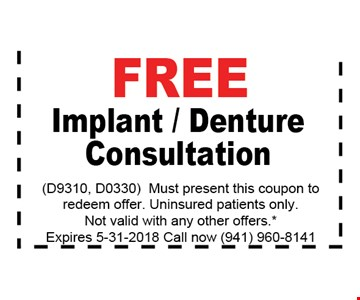 FREE IMPLANT / DENTURE CONSULTATION