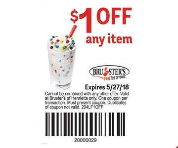 $1 Off any item