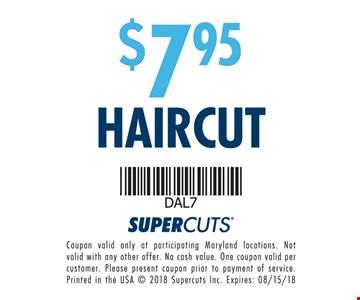 $7.95 Haircut