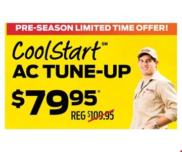 CoolStart AC tune-up $79.95