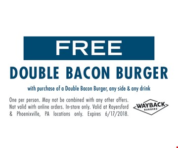 Free double bacon burger