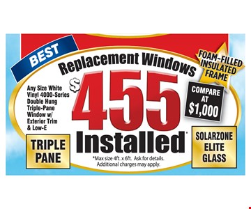 Replacement $455 Installed