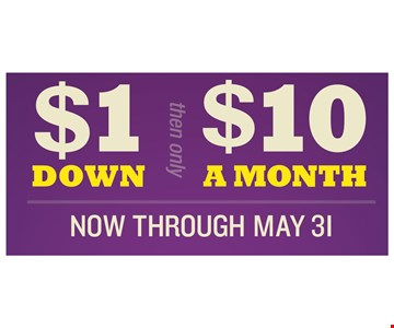 now through May 31st