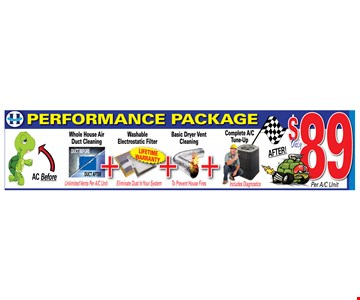 Performance package - $89