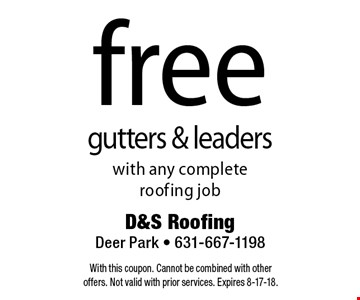 free gutters & leaders with any complete