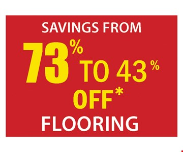 73% to 43% off flooring